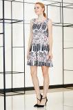 Безрукавный платье Ponte зимы конькобежца флористической печати