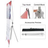De aluminio ajustable clásico X Banner de pie con la bolsa de viaje