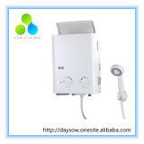 Revêtement blanc 6L portable chauffe-eau à gaz GPL