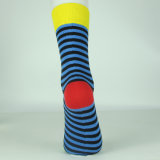 Glücklicher bunter Streifen-Unisexkleid-Socken