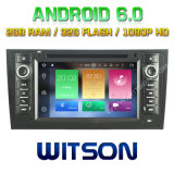 Автомобиль DVD Android 6.0 сердечника Witson 8 для Audi A6/S6/RS6