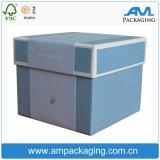 Regalo de lujo de la cartulina rígida que empaqueta el rectángulo de encargo del cesto