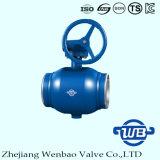 Vávula de bola de flotación del GOST con el acero montado muñón para la industria