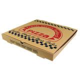 Изготовленный на заказ коробка пиццы бумажной коробки e каннелюру качества еды