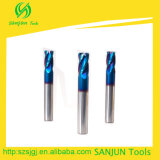 4 da dureza elevada de canto dos moinhos de extremidade do raio do canto do cortador da flauta ferramentas de giro