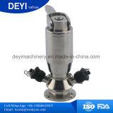 Aço inoxidável Sanitário Aspetic SS304 SS316L da Válvula da torneira de amostra
