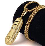 Edelstahl-Schmucksache-Retro Feder-Anhänger-Halskette