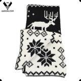 Подарок рождества шарфа Snowy картины жаккарда оленей способа нордический