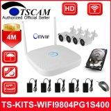 4CH 4 МП HD Wireless WiFi сетевой видеорегистратор комплекты Bullet IP-камера