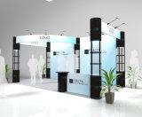 будочка индикации выставки алюминия 3X6m с спиральн стойками башни и стеной знамени ткани
