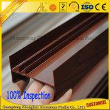 Migliore sezione di alluminio di vendita del tubo piano di legno del grano con le parti di alluminio
