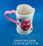 Caneca cerâmica Heart-Shaped do café/chá