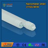 indicatore luminoso fluorescente Nano del tubo 1200mm 18W LED della plastica T8 LED di 4FT per i banchi