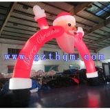 De Openlucht Decoratieve Opblaasbare Boog van Kerstmis/de Opblaasbare Boog van de Kerstman