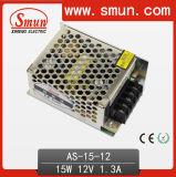 15W 12VDC 1.3A 소형 단 하나 산출 엇바꾸기 전력 공급