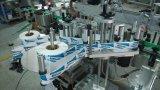 Automtic cuello delante detrás Máquina de etiquetado de la botella de cristal como Río