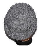 주문 형식 회색 뜨개질을 한 모자 여자 무능력자 베레모