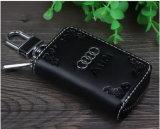 自動車メーカーハイエンド革主袋のジッパー遠隔主袋の特別なロゴのキー袋