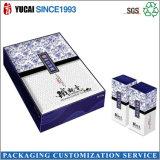 Rectángulo de empaquetado de la tarjeta del té del rectángulo del regalo de encargo gris del rectángulo de papel