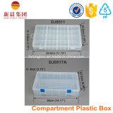 Rectángulo plástico del claro del almacenaje de 18 Comptment