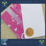 Sellado caliente de la etiqueta del holograma en la tarjeta del PVC