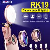 2017 Universalität 2 in 1 Selfie Ring-Taschenlampe mit grellem Licht des Fisheye Objektiv-LED Selfie (RK19)