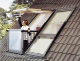 Ventana del techo de madera revestidos de aluminio tragaluz Ventillator