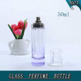 frasco de perfume de vidro colorido roxo do pulverizador 50ml