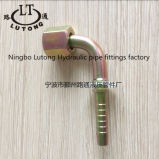 90 garnitures hydrauliques femelles métriques de tuyau de coude