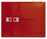 Carrete de manguera de incendios, armario con compartimento separado para extintor de incendios (doble compartimento)