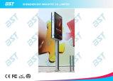 Panneau de rue extérieur P5 Pôle Double écran LED latéral