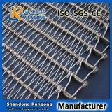 Haste flexível de aço inoxidável Correias transportadoras para processamento dos alimentos