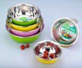 ステンレス鋼の着色された混合のボールか洗面器