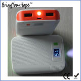 전시 (XH-PB-016)를 가진 이중 USB 산출 5600mAh 토치 힘 은행