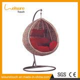 Meuble de patio tissé synthétique PE-Rattan Chaise de balançoire en hamac