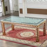 ガラス長方形のダイニングテーブルは低価格とセットした