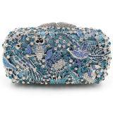 Cute Bird Pattern Evening Crystal Bag Senhora Colorful Rhinestones Purse Leb752