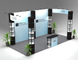 China Exhibition Booth Design Cabinet d'exposition en tube d'aluminium portable avec impression en tissu, international