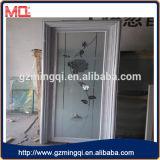 Interior de casa de banho porta de moldura de alumínio