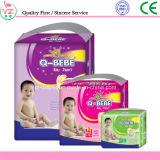 Pañal medio disponible Couche Bebe del bebé de la talla de la película impresa de la alta absorción