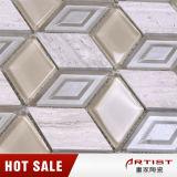 Mattonelle di mosaico di marmo di pietra di marmo bianche della parete e del pavimento del mosaico dell'Italia per la stanza da bagno