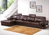 رفاهيّة يعيش غرفة أثاث لازم [جنيون] جلد ركب أريكة ([هإكس-سن010])