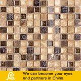 Azulejo de mosaico de arte cerâmica bege e castanho