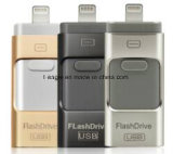 3 in 1 Kaart van het Geheugen van de Aandrijving van de Flits OTG USB 32GB 32GB, de Schijf van U OTG voor iPhone & de Androïde & Bureaucomputer van