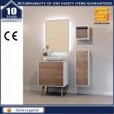 24 '' cabinas de cuarto de baño de madera de la melamina de la laca blanca fijadas con las piernas