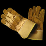 Золотистая работа Glove-3071 зимы вкладыша Thinsulate Split кожи коровы полно