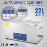 líquido de limpeza ultra-sônico de Digitas do aço 22L inoxidável com temporizador e calefator