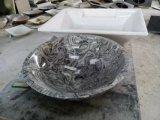 Tazones de fuente de piedra naturales, fregadero de mármol de la colada, tazones de fuente de piedra, lavabo de mármol