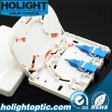 Caja de terminación FTTH 2-4c de interior compacta