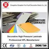 Papier stratifié de formica à haute pression décoratif